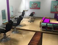 Diseño 3D - Salon de Belleza