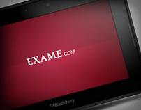 Aplicativo Revista Exame para Playbook