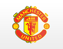 Manchester United Logo in Flat