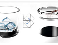 Wuigg. vaso / cenicero - glass / ashtray