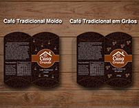 Café Casa Grande - Logotipo e Embalagem