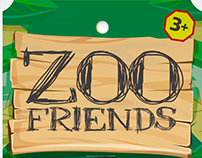 "Zoo Friends, Pelotas de Esponja 2.5"""