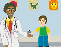 Ilustrações para livro infantil sobre autismo