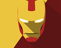 Homem de Ferro - Arte minimalista