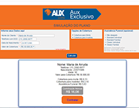 Calculo de cobertura site www.auxvida.com.br