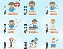 Cartaz - 10 passos para ser mais feliz