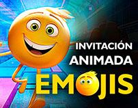 Camila Invitación a Pijamada Emojis
