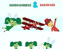 Red Barond and Green Goddess