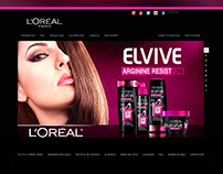 Banner Publicitario para ELVIVE (L'Oreal)