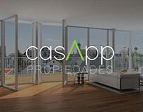 casApp propiedades - Diseño de Logo