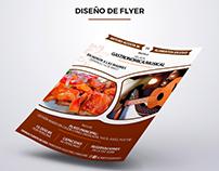 Diseño de Flyer para Alimentos En Vivo