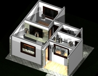 Casa Simples em 3D