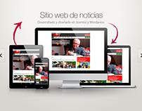 """Portal noticias """"La Rel"""" - Desarrollo y diseño - 2010"""