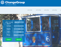 Currency Exchanger Landing Page