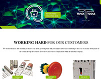 Diseño de Sitio Web Tracktools Suply