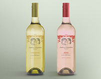 Diseño de etiqueta de vino souvenir de casamiento
