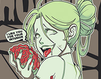 Zombie Girl Tales of horror for shirts