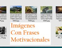 Diseño de imágenes con frases motivacionales