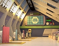 3D Set Project: The Scare Floor from Monsters, inc.