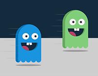 Ilustração - Pacman flat design