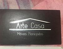 Cartão de visita arte casa