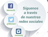 redes sociales MemorIQ