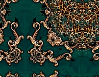 Print/ Estampa - green chic leopard