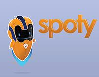 Spoty conceptualización de personaje para OnSpotMe App