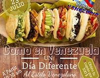 """Flyer """"Como en Venezuela"""""""