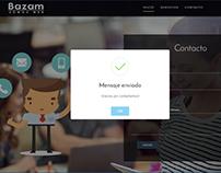 Landing Page - Bazam Web