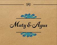 Invitación Boda// Maty & Agus