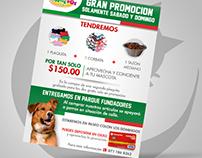 Flyer Shopping Dog - Elaborado en FRM Publicidad