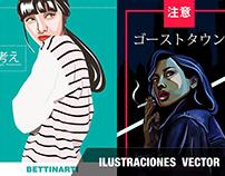 ILUSTRACIONES PLANAS DE VECTOR