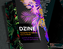 Dzine - Projeto tipográfico