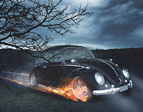 Hell's Fusca (Photoshop)