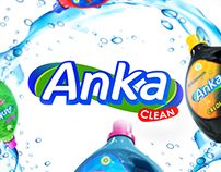 Diseño Logo ANKA y etiquetas linea producto limpieza