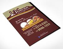 Cardápio e Flyer Restaurante Veneza