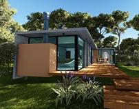 Casa de Hormigon -Mar Azul-Villa Gesell-Bs. As.- Arg.