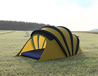 Carpa inflable expandible / camping tent