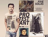 """Camiseta """"Five Solas"""" 500 Anos da Reforma Protestante"""