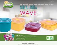 Web Design - Layout Indústria de Potes Plástico