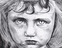 Realismo a lápis - preto e branco