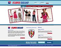 Tejidos Océano Website.