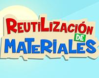 Reutilización de materiales.