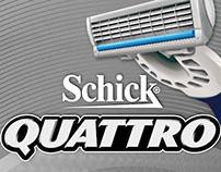 Schick Quattro - Materiales P.O.P.