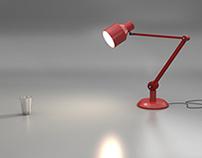 Red Lamp Desk