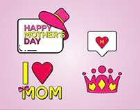 icon vector for web page - mother´s day