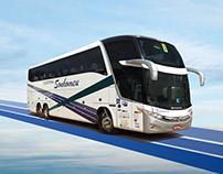 Folder empresa de ônibus