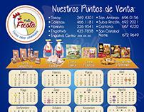 Pollo Fiesta Imanes Calendario