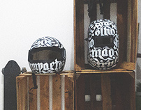 Calligraphy on Helmets